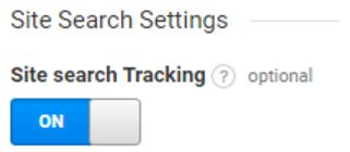 הפעלת מעקב אחרי חיפושים באתר